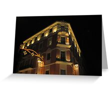 Magnificent hotel illuminated Greeting Card