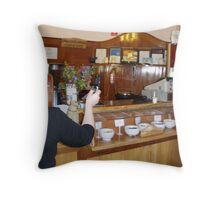 SNAP - doubly caught sampling at the chocolate factory, Latrobe, Tasmania Throw Pillow