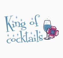 King of Cocktails with cute tropical flower and a glass One Piece - Short Sleeve