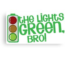 Lights green BRO! Funny KIWI New Zealand saying Canvas Print