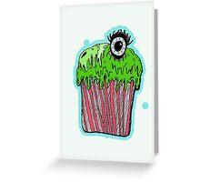 Gruesome cupcake Greeting Card