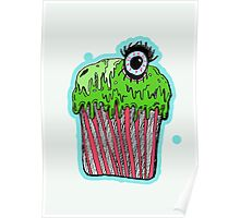 Gruesome cupcake Poster