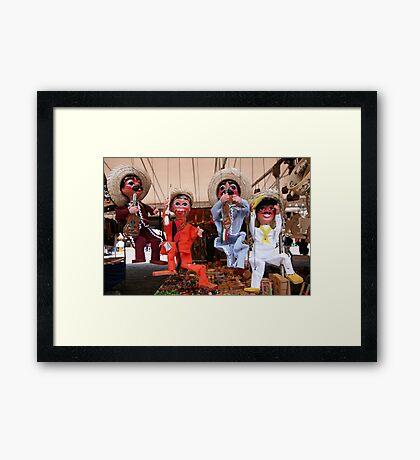 You muppets! Framed Print