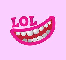 LOL laugh out loud smiling teeth by jazzydevil