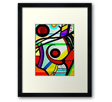 Vacation abstract vibrant digital art Framed Print