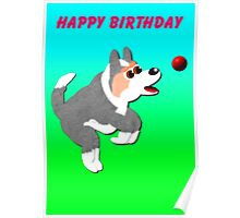 w00t woof's birthday Poster