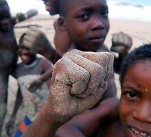 Boys in Mikondo Beach by Vicent Alcaraz Coll
