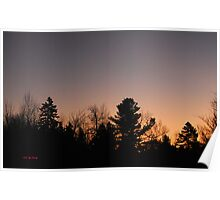 Winter Dawn in Mont-Laurier (Quebec, Canada) Poster