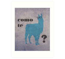 Como Te Llamas Humor Pun Poster Art Art Print