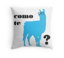 Como Te Llamas Humor Pun Poster Art Throw Pillow