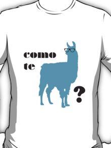 Como Te Llamas Humor Pun Poster Art T-Shirt