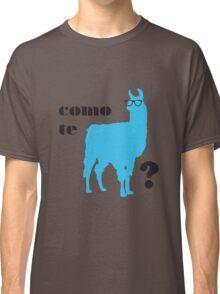 Como Te Llamas Humor Pun Poster Art Classic T-Shirt