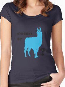 Como Te Llamas Humor Pun Poster Art Women's Fitted Scoop T-Shirt