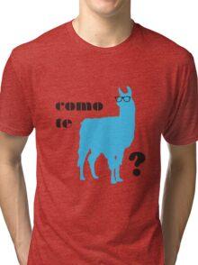 Como Te Llamas Humor Pun Poster Art Tri-blend T-Shirt