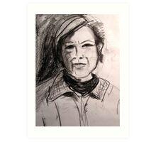 Sketch  of Marianne Art Print