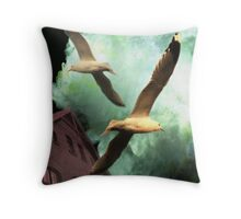 The Fisherman House Throw Pillow