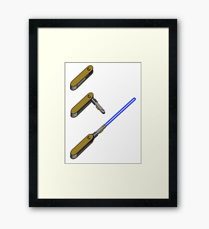 light-swiss-knife-blue-3 Framed Print