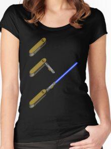 light-swiss-knife-blue-3 Women's Fitted Scoop T-Shirt