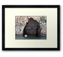 Out of the caves Framed Print