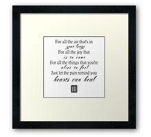 For all the joy Framed Print