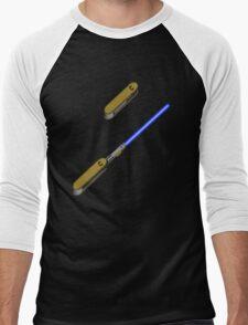 light-swiss-knife-blue-2 Men's Baseball ¾ T-Shirt