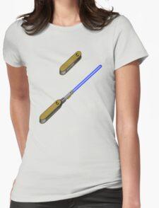 light-swiss-knife-blue-2 Womens Fitted T-Shirt