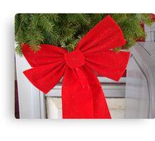 Christmas bow Canvas Print