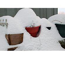 patio snow garden Photographic Print