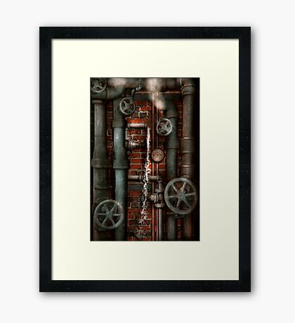 Steampunk - Plumbing - Pipes and Valves Framed Print
