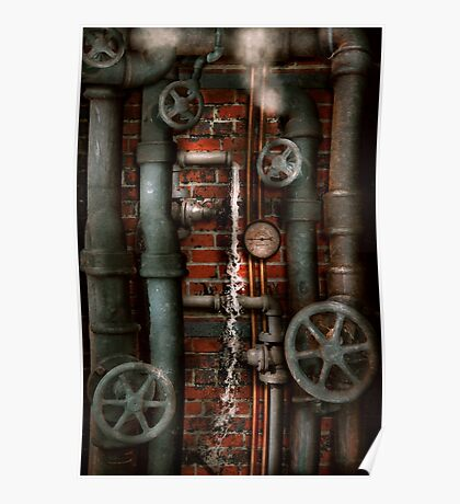 Steampunk - Plumbing - Pipes and Valves Poster