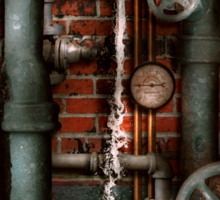 Steampunk - Plumbing - Pipes and Valves Sticker