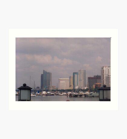 Manila bay.  Art Print