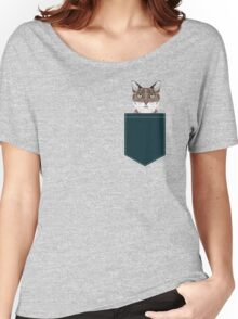 Sidney - Tabby Cat art print cell phone case with cute cat funny cat gifts perfect gift for cat lady Women's Relaxed Fit T-Shirt