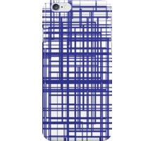 Blue lines iPhone Case/Skin