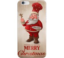 Santa Claus pastry cook greeting card iPhone Case/Skin