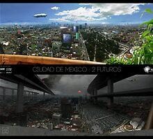 Ciudad de Mexico - 2 futuros by Ludovic Celle