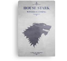 House Stark - Game of Thrones Metal Print