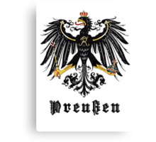 Prussia Flag Canvas Print