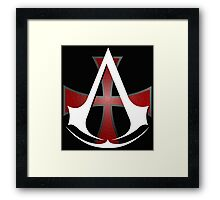 Assassins Creed Choose Your Allegiance Black  Framed Print