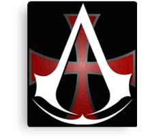 Assassins Creed Choose Your Allegiance Black  Canvas Print
