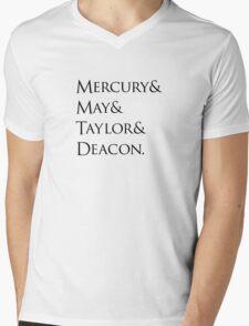 Queen: Mercury & May & Taylor & Deacon. Mens V-Neck T-Shirt