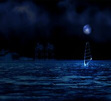 The Fullmoon Wind Surfer by Carlo Cesar Rodillas