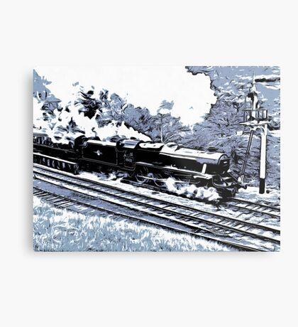 Scarborough Spa Express Graphic Novel Metal Print