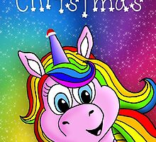 Magical Unicorn Christmas Card by GarryVaux