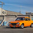 Orange Ford Escort Mk1 by John Jovic