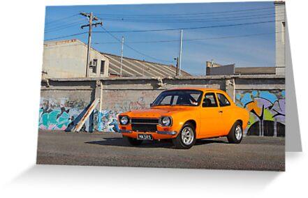 Orange Ford Escort Mk1 by John Jovic