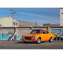 Orange Ford Escort Mk1 Photographic Print