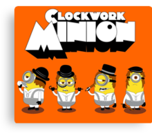 Clock Work Minion Canvas Print