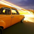 Orange Ford Mk1 Escort at Night by John Jovic