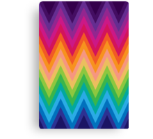 Retro Zig Zag Chevron Pattern Canvas Print